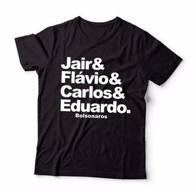 Camisa Camisetas Bolsonaros Jair E Flávio E Carlos E Eduardo