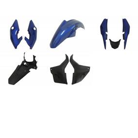 Kit Carenagens E Paralama Traseiro Fan 150 Azul Esdi 2014