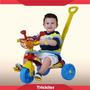 Triciclo Infantil Com Empurrador Motoca Smile Confort Menino