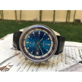 Reloj Hamlin 360 Datomatic Cuerda Vintage Diver Mundial