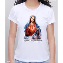 Camiseta Personalizada Religiosa Sagrado Coração De Jesus