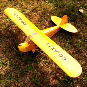 Avion Piper Cub J3 Kit Para Radio Control Rc 3 Canales Armar