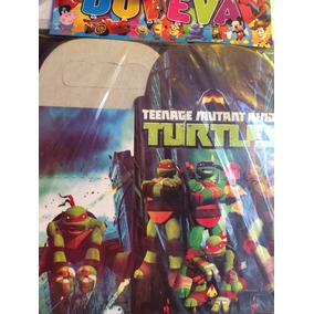 Caja Dulcero Tortugas Ninja Fiesta