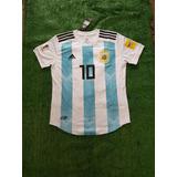 Camiseta Argentina Mundial Rusia 2018 Messi Y Sin Numero