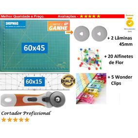 Base De Corte 60 + Régua 60 +cortador 45 Patchwork,scrapbook