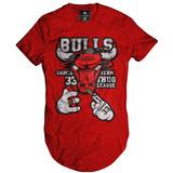 Camiseta Longline Swag League 33 Camisas Blusas Manga Curta