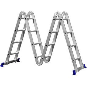 Escada Multifuncional 4x4, 16 Degraus - Mor