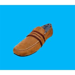 Zapatos Economicos Color Miel, Tipo Gamusa, Casual.