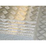 Lamina Estriada De Aluminio 1.60mm De Espesor