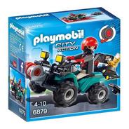 Playmobil City Action Ladron C/ Quatriciclo Y Botin Jeg 6879