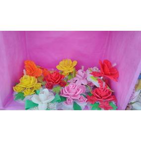 Souvenirs Flores Goma Eva Con Luces Precio X Unidad