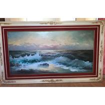 Pintura Al Óleo De Una Marina