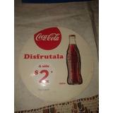 Vieja Calcomania De Coca Cola Disfrutala A $..