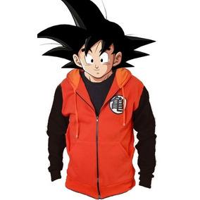 Blusa De Moletom Com Capuz Goku Laranja