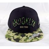 Boné Tkm Brooklyn Ny Camo Snapback Skate - Pronta Entrega
