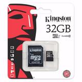 Memoria Kingston 32gb Micro Sd Clase 10 Celular Cámara Foto