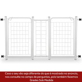 Grade De Porta Dupla Bebês E Cachorro + Extensor 10cm Grátis