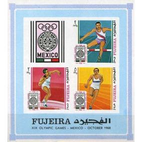Fujeira 1968 Jogos Olímpicos México 68 Imperf Mint R0193