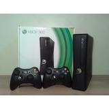 Xbox 360 Slim 5.0 Con 2 Controles Y Disco Duro 250 Gb Con Ju