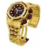 Relógio Invicta Zeus 12740 Bolt Dourado Marrom Maleta Masc10