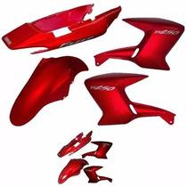 Kit De Carenagem Yamaha Ys 250 Fazer - Ades - Vermelho 2008