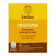 Chá Leão Reanima Chá Preto Laranja E Mel 10 Sachês