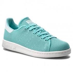 Tenis adidas Stan Smith 100% Originales D Mujer Azul Cielo