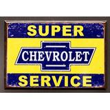 (2x3) Imán Súper Servicio Chevrolet Chevy Retro Apenado Fri