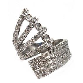 Yla-anel Pave Ouro Branco 18k- 139 Brilhantes