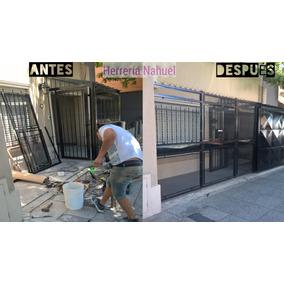 Puerta Reja + Portón Corr. 2,5 X 2 Malla Oferta! Metal Despl