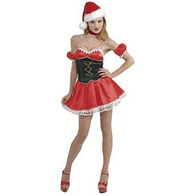 Disfraz Sexy De Mujer Santa Claus Clos Princesas Disney