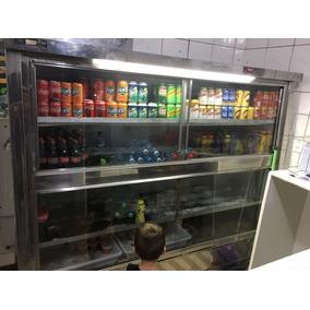 Freezer Em Inox Com 4 Portas De Vidro 220 V