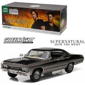 Supernatural 1967 Impala Chrome Edit Escala 1/18 12x + Frete