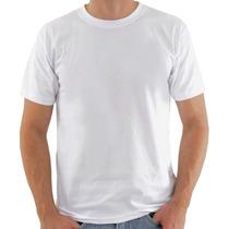 Camiseta Simples Tecido Liso 100% Poliester - Branca E Preta