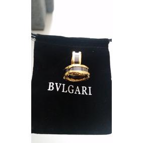 7mm Anel Aliança Com Banho De Ouro E Cerâmica Inter Bvulgari