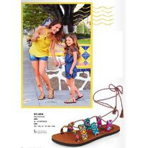 Sandalia Diseño Tejido Etnico Duo Mama E Hija 18 A 27