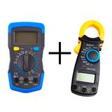 Kit Multímetro Digital Multiteste + Alicate Amperímetro 600v