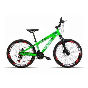 Bicicleta Aro 26 Vikingx X25 21 V Index Freio A Disco Verde