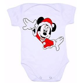 Body Infantil Bebê Personalizado Minnie Natal Entrega Rápida