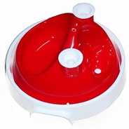 Bebedouro E Comedouro 3x1 Jetaplast System Ball - Vermelho