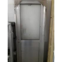 Puerta Aluminio Natural 70x200 1/2 Vidrio Oferta Abershop