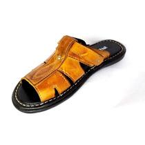 Chinelos Sandalias Masculino Em Couro Fort Shoes Sandália