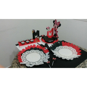 Chupetero Minnie Mouse Roja Fiesta Infantil Minnie Mouse