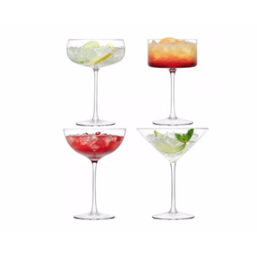 Set Copa Cocktail En Vidrio Marca Lsa 2290021