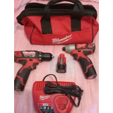 Kit De Taladros Rotomartillo Y De Impacto 12 V Milwaukee M12