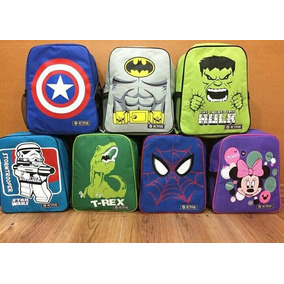 Bolsos Escolares Superheroes Backman, Capi America,minnie,