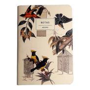 Cuaderno Libreta Anotador  Pájaros A6 14x10cm
