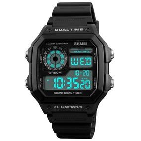 Reloj Digital Led De Pulsera Impermeable 50m. Skmei.