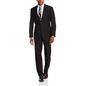 Traje Negro Geoffrey Beene De 2 Botones Para Hombre Elegante