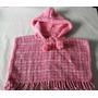 Poncho Abrigo De Lana Tejido Al Crochet Para Beba